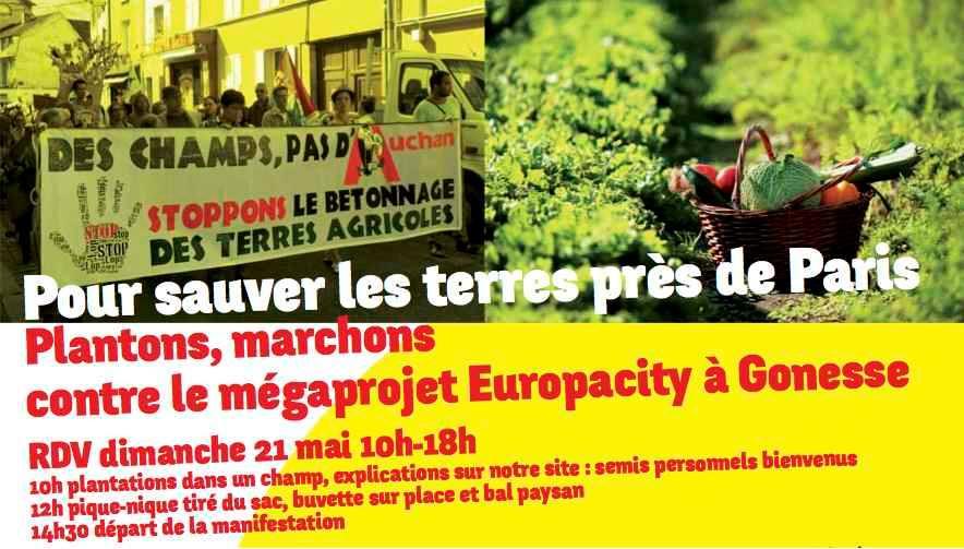 Manifestation le 21 mai contre Europacity