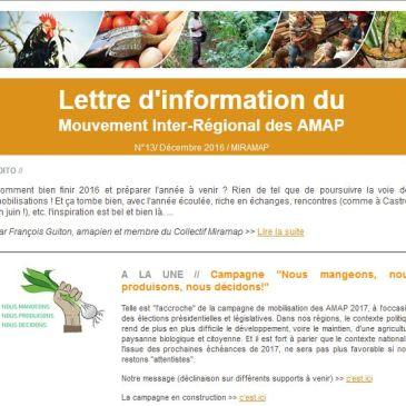 Lettre d'information du Miramap