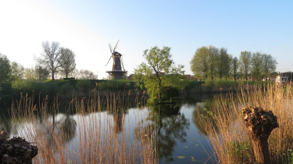 De molen Nooit Volmaakt bij het Paardenwater in Gorinchem is een favoriete plek bij veel Gorcumers,