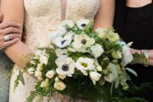white bouquet wedding flowers amaranth florist, narberth