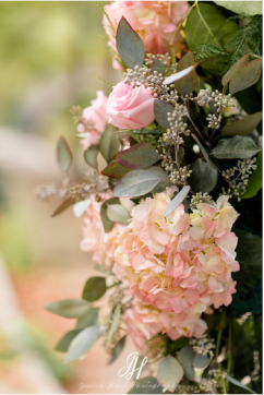 close up wedding arch pink flowers amaranth florist narberth pa