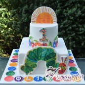 Two Tier Hungry Caterpillar Cake - Amarantos Designer Cakes Melbourne