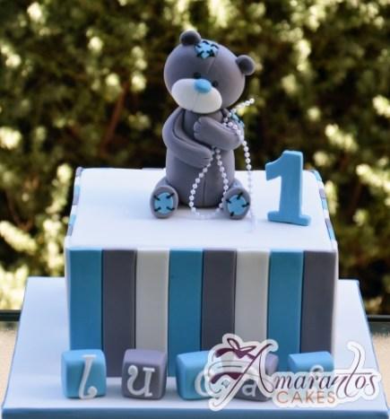 Base cake with Teddy – AC324 – Celebration Cakes Melbourne – Amarantos