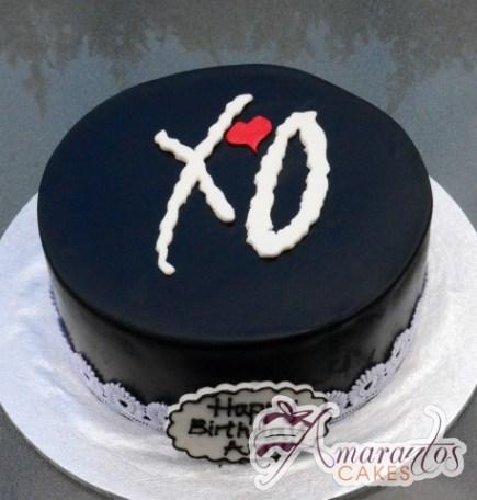 XO cake – AC325 – Celebration Cakes Melbourne – Amarantos Cakes