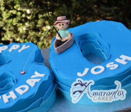 Number Fishing Themed Cake - Amarantos Designer Cakes Melbourne