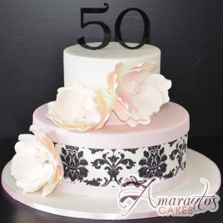 Two tier designed Cake – AC423