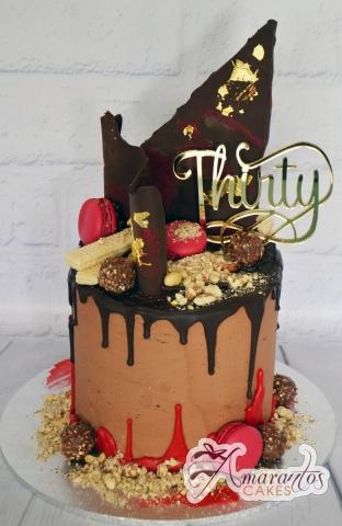 Two Tier Drizzle Cake - Amarantos Designer Cakes Melbourne