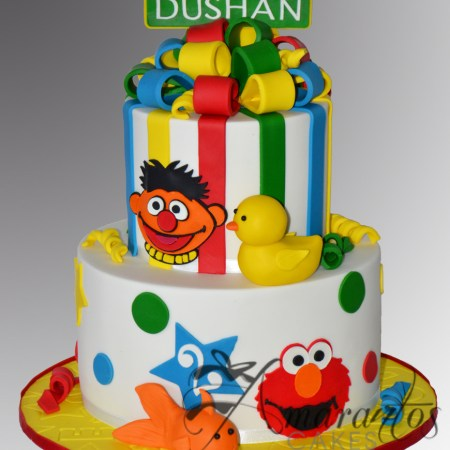 Two tier Sesame Street Cake- AC451