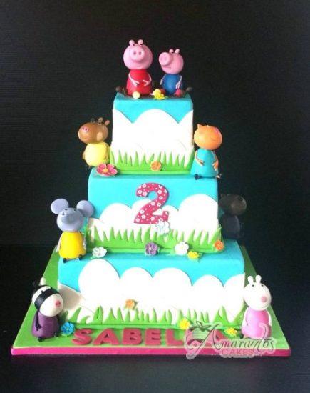 AC503 – Three tier Peppa Pig Cake