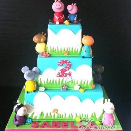 Three tier Peppa Pig Cake – AC503