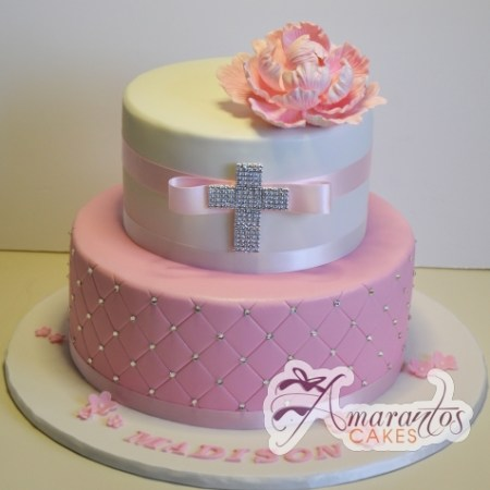 Two tier Cake with Cross- CC64
