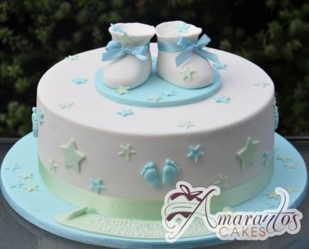 Round With Booties Cake - Amarantos Custom Made Cakes Melbourne