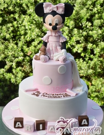 Two Tier with Minnie Cake - Amarantos Designer Cakes Melbourne