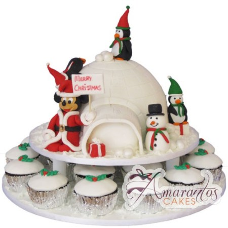 Igloo Cake with Cup cakes- CH02