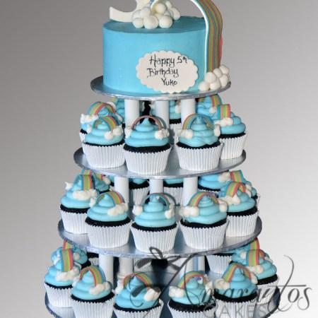 Rainbow Cup Cake Tower- CT05