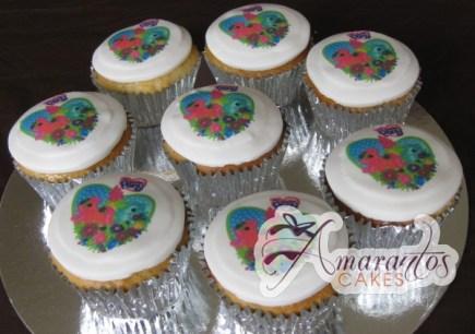 Floral Loveheart Cupcakes - Amarantos Designer Cakes Melbourne