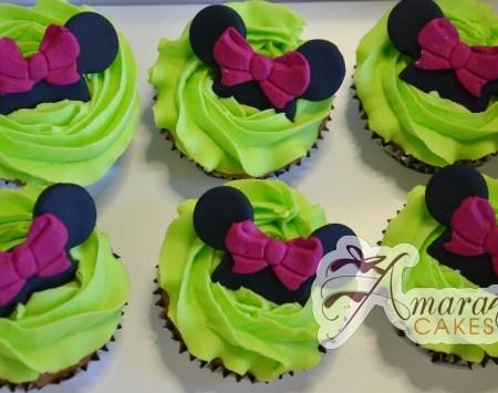 Minnie mouse Cup Cakes - CU12 - Amarantos Cakes Melbourne