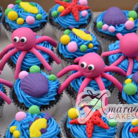 Sea themed cup cakes – CU23