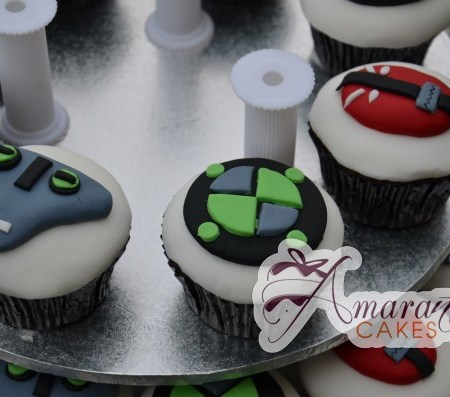 Ben 10 cup cakes