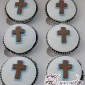 Cross Cup Cakes - CU31 - Communion Cup Cakes Melbourne