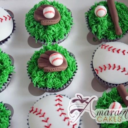 Baseball Cup Cakes - Amarantos Designer Cakes Melbourne