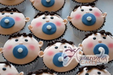 Baby face cup cakes CU37