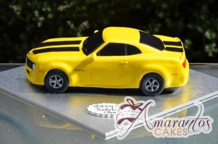 3D Camaro Bumblebee Cake - Amarantos Custom Made Cakes Melbourne