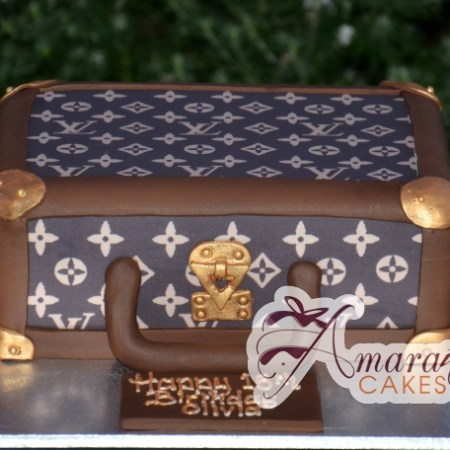 Suitcase - Amarantos Cakes Melbourne