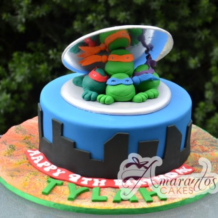 Base cake with TMNT- NC286
