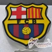 Barcellona FC logo Cake - Amarantos Designer Cakes Melbourne