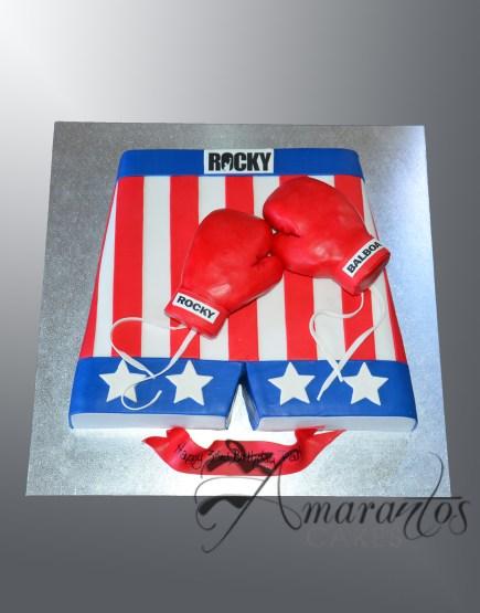 NC311 Rocky Boxing Shorts Cake