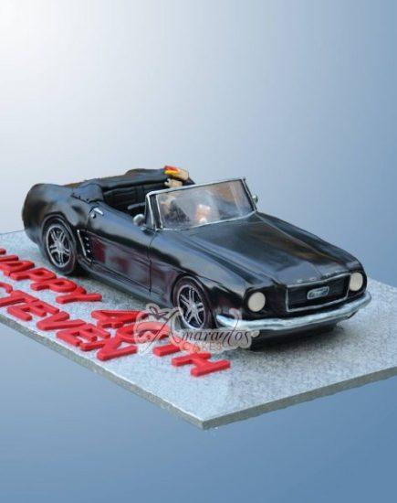3D Mustang Car Cake NC317