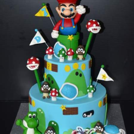 Two tier Super Mario Cake- NC337