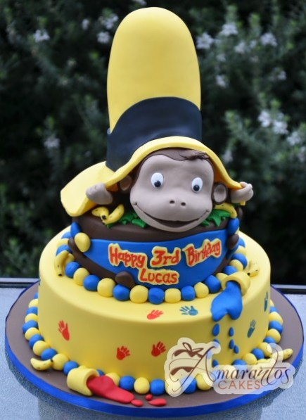 Two tier Curios George- NC341 1