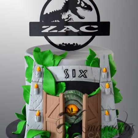 Two tier Jurassic Cake – NC358