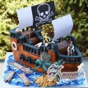 3D Pirates of the Caribbean Cake - Amarantos Designer Cakes Melbourne