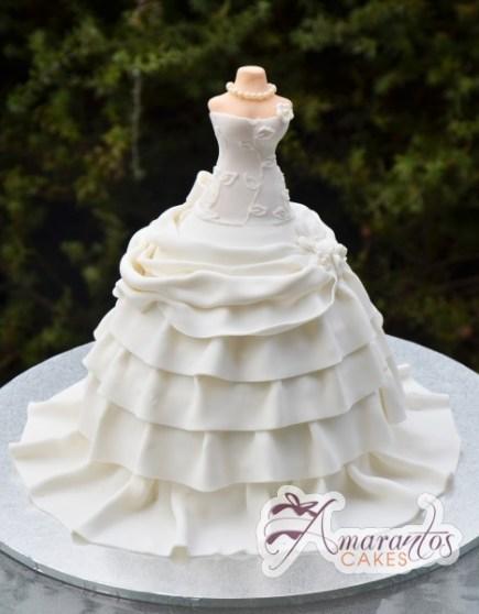 Wedding Gown Cake - Amarantos Designer Cakes Melbourne