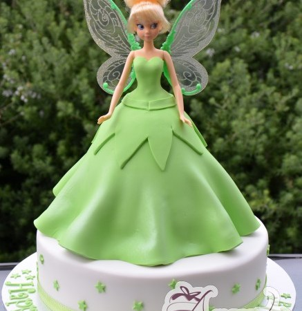 Tinkerbell on base cake- NC431
