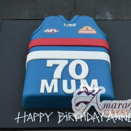 Football Jersey Cake - Amarantos Cakes Melbourne