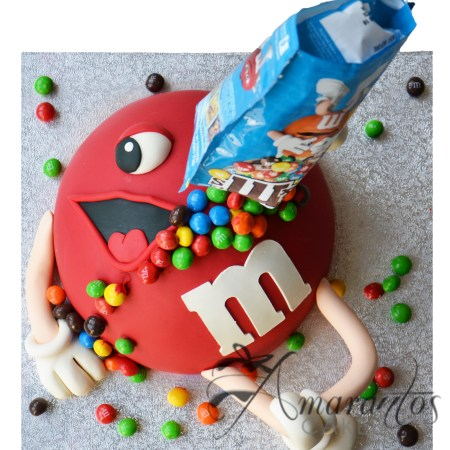 Red M&M Cake- NC51