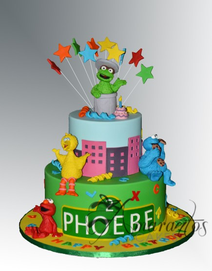 Two tier Sesame Street Cake- NC524