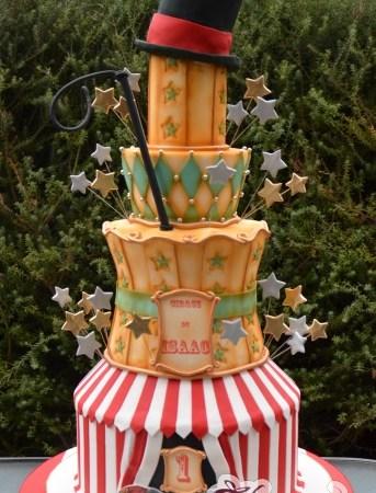 Seven tier circus themed cake – NC547