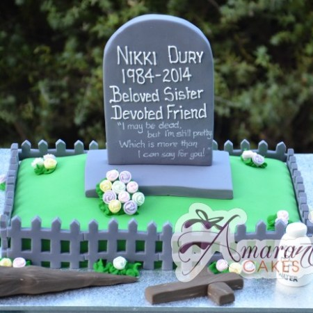 Grave site Buffy themed Cake- NC550