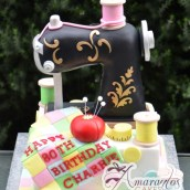 3D sewing machine cake - Amarantos Cakes Melbourne