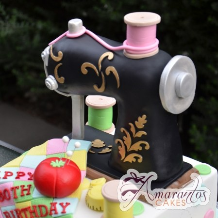 Sewing Machine Cake 3D - Amarantos Cakes Melbourne