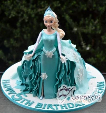 Elsa Doll Cake - Amarantos Designer Cakes Melbourne