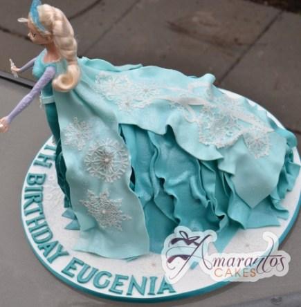 3D Elsa Cake - Amarantos Holiday Cakes Melbourne