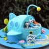 3D Octonauts Ship Cake - Amarantos Custom Design Cakes Melbourne