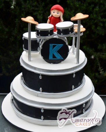 Two Tier Drums Cake - Amarantos Custom Made Cakes Melbourne