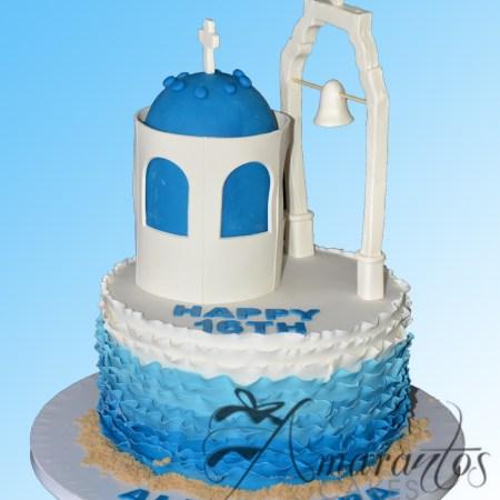 Santorini themed cake – NC621